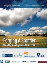 State of the Voluntary Carbon Markets 2008 - Ecosystem Marketplace