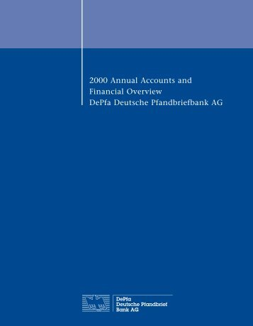 2000 Annual Accounts and Financial Overview DePfa Deutsche ...