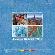 AnnuAl RepoRt 2012 - IGBP