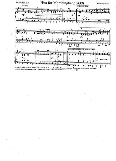 KA 72 Hits for Marching Band 2008 Pdf-Direktion