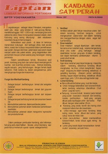AREEN PERTANIAN - BPTP Yogyakarta