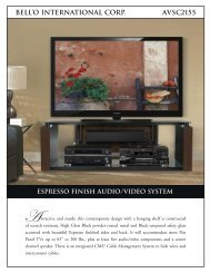 bell'o international corp. avsc2155 espresso finish audio/video system