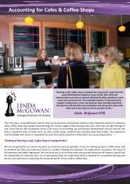 Accounting for Cafes Coffee Shops - Linda McGowan Accountants