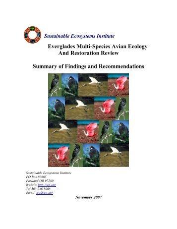 Everglades Multi-Species Avian Ecology And Restoration ... - Resolve