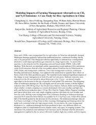 Modeling Impacts of Agricultural Management Alternatives on CH 4 ...