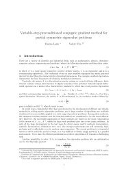 Variable-step preconditioned conjugate gradient method for partial ...