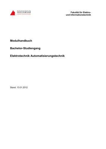 Modulhandbuch Bachelor-Studiengang Elektrotechnik ...