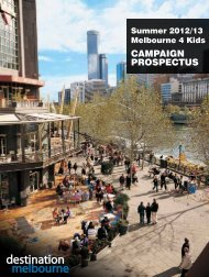 Campaign prospeCtus - Destination Melbourne