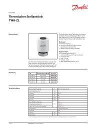 Thermischer Stellantrieb TWA-ZL - Danfoss
