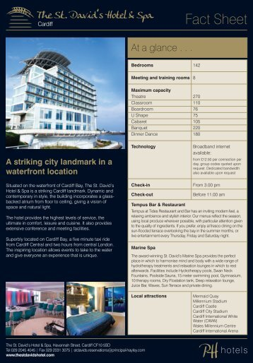 Download our Fact Sheet & Capacity Chart - Principal Hayley