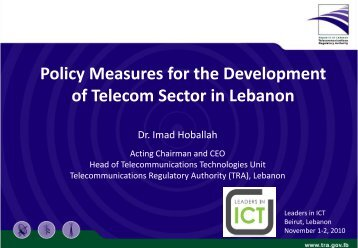 Policy Measures for the Development of Telecom Sector in Lebanon