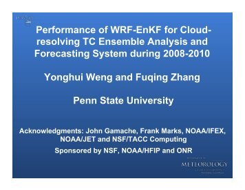 Cloud-Resolving Hurricane Ensemble Analysis and Prediction with ...