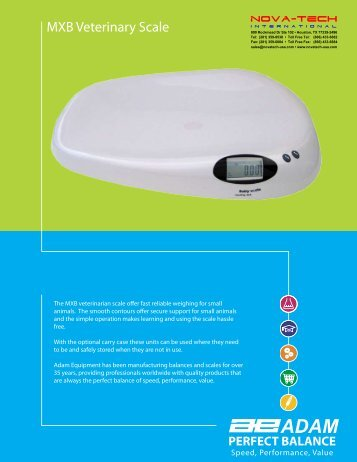 MXB Veterinary Scale - Nova-Tech International, Inc