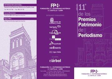 Bases XI Premios Patrimonio de Periodismo - Fundación del ...