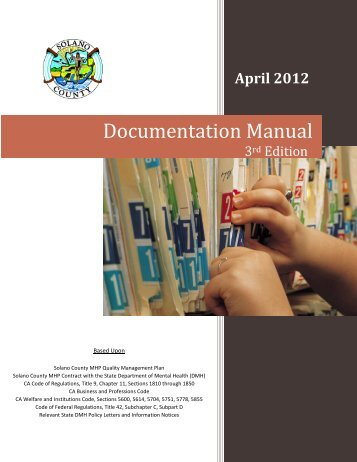 Documentation Manual 3rd Edition - April 2012 - Solano Network of ...