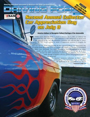 Second Annual Collector Car Appreciation Day on July 8