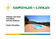 Villetta mit Pool und Blick auf die Gallura Costa ... - Sardinia Living