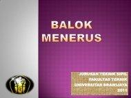 Balok Menerus - Universitas Brawijaya