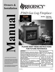 P36D Gas Log Fireplace