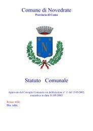 Comune di Novedrate Statuto Comunale