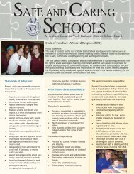 Safe and Caring Schools - the York Catholic District School Board