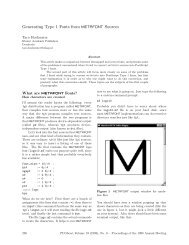 Generating Type 1 Fonts from mEtaFoNt Sources