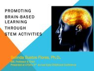 PROMOTING BRAIN-BASED LEARNING THROUGH STEM ...