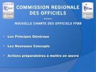 Presentation CD49 13.03.2015 - nouvelle charte officiels FFBB