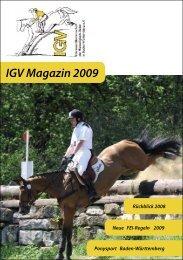 IGV Magazin 2009 - IGV Baden-Württemberg