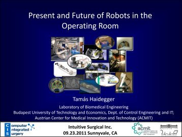 Present and Future of Robots in the Operating Room