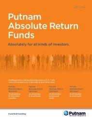 Absolute Return Funds Brochure w/Pocket - Putnam Investments