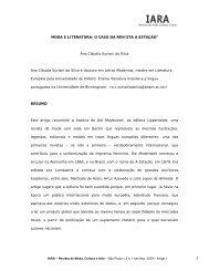 1 MODA E LITERATURA: O CASO DA REVISTA A ESTAÇÃO1 Ana ...