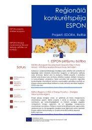 Reģionālā konkurētspēja - Valsts reģionālās attīstības aģentūra