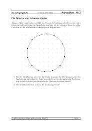 Arbeitsblatt- Nr.2 Die Gesetze von Johannes Kepler - Treminer.de