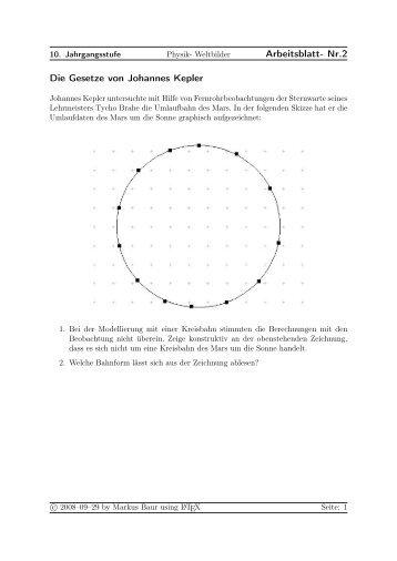 Kepler Gesetze - Treminer.de