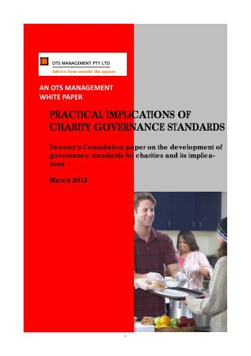 White Paper Practical Implications of Charity Governing Standards