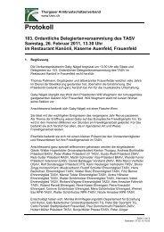 Protokoll TASV Delegiertenversammlung 2011