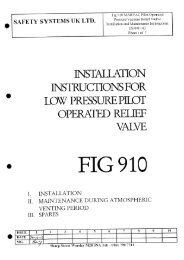 Fig. 910 Pilot Op PV Valve - Safety Systems UK Ltd