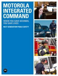 Motorola Integrated Command - Motorola Solutions