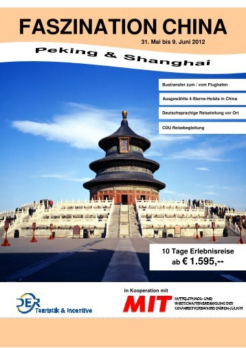 FASZINATION CHINA - Caro Magazin
