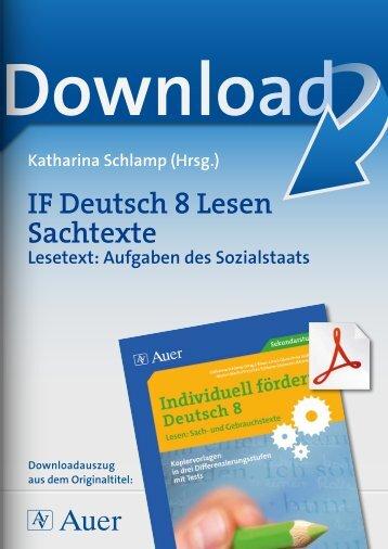 IF Deutsch 8 Lesen Sachtexte