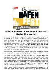 2tes großes Hafenfest an der Heinz-Schleußer-Straße - AQUApark ...