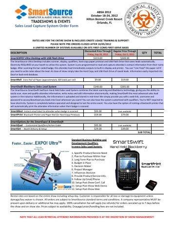 Lead Retrieval order form(PDF 341KB)