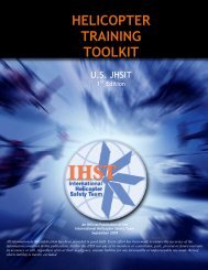 HELICOPTER TRAINING TOOLKIT - IHST