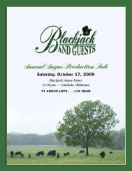 Annual Angus Production Sale - National Cattle Services, Inc.