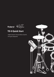 TD-9 Quick Start - Roland Corporation Australia