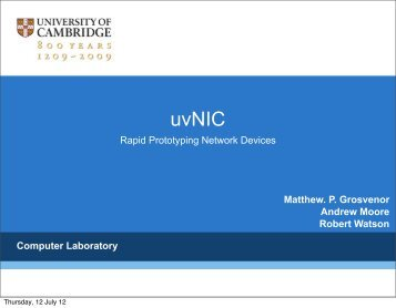 uvNIC - University of Sussex