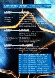 aktuell Advent Weihnachten Neujahr 2012 - Seelsorgeeinheit Uzwil