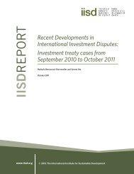 Recent Developments in International Investment Disputes ...