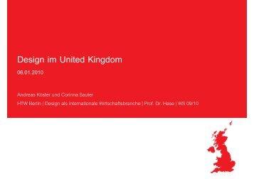 Design im United Kingdom - Studium der Wirtschaftskommunikation